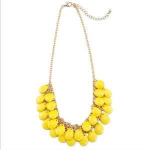"""Statement necklace in color """" sunflower yellow"""""""